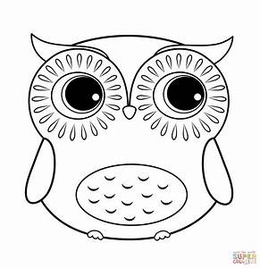 printable owl coloring pages - cartoon owl coloring page free printable coloring pages