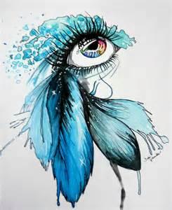 Abstract Eye Art Drawing