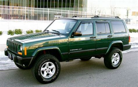 jeep cherokee sport green purchase used 2001 jeep cherokee 4x4 sport 4 0 quot quot lifted