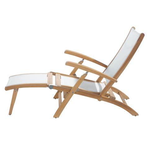 chaises longues de jardin chaise longue de jardin blanche bois teck maisons
