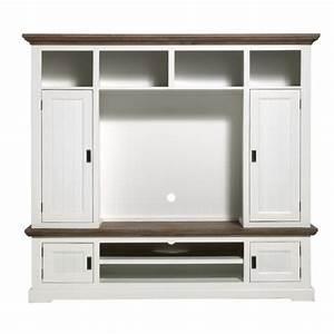 Meuble Haut Salon : meuble tv ensemble haut les meubles du chalet ~ Teatrodelosmanantiales.com Idées de Décoration