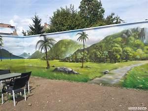 paysage mur de jardin With decoration mur exterieur jardin 5 decoration salon peinture mur