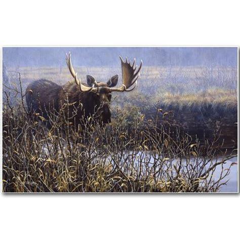 Cautious Approach Bull Moose Art Print