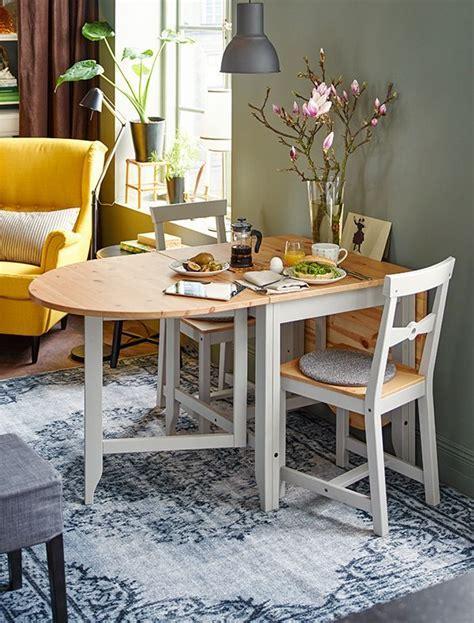 GAMLEBY Gateleg table, light antique stain, gray   Stains
