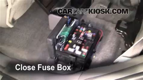 interior fuse box location   chevrolet