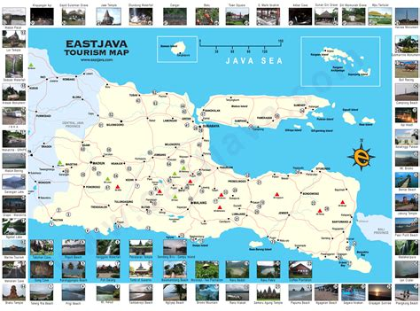 map  east java peta jawa timur east java tourism map