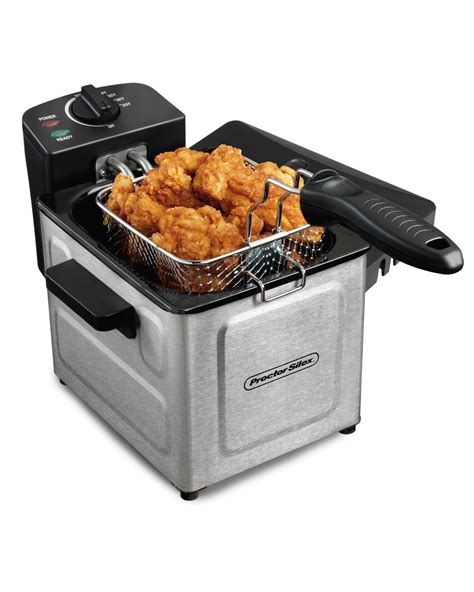fryer deep electric professional fryers proctor silex stainless steel oil turkey fries kitchen amazon chips liter basket rated capacity ultimate