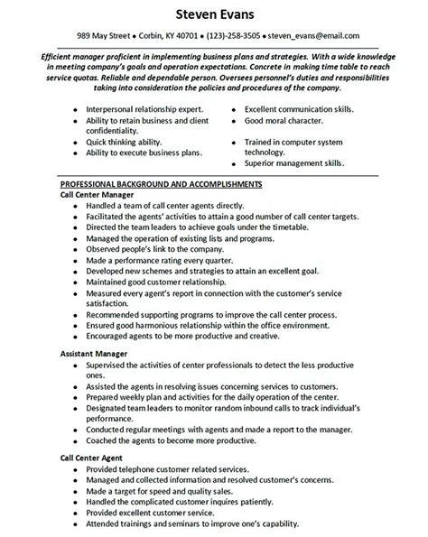 Phone Customer Service Resume by Customer Service Call Center Resume Call Center Resume For