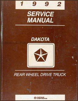 service manual old car manuals online 1992 dodge ram wagon b150 electronic valve timing 1992 dodge dakota repair shop manual original
