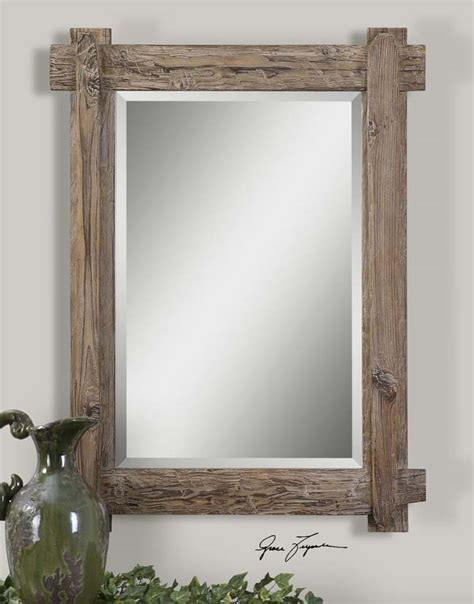 Rustic Wood Plank Mirror: Western Passion