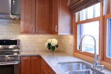 My new kitchen white cabinets tan subway tile backsplash suede. Medium Brown Cabinets Design Ideas, Pictures, Remodel and ...