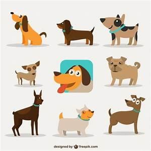 Dog Cartoon Design Free Vector   Pinterest