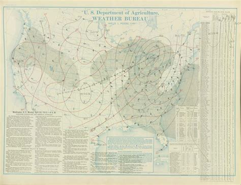 surface bureau weather maps of the united states for mid to late april