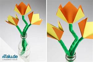 Blumen Basteln Kinder : seidenpapier basteln blumen zum muttertag basteln 26 ideen aus seidenpapier mobile basteln ~ Frokenaadalensverden.com Haus und Dekorationen