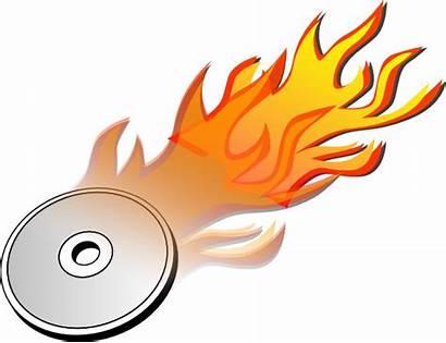 Dvd Burn Cd Icon Burning Fire Drawing
