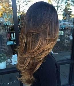 Balayage Cheveux Frisés : balayage caramel sur cheveux chatain ~ Farleysfitness.com Idées de Décoration