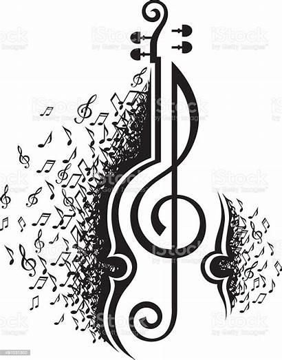 Notes Violin Musical Vector Orchestra Clip Symphony