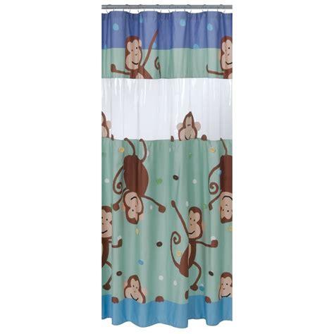 monkey shower curtain circo peek a boo monkey shower curtain nwot 32 99 ebay