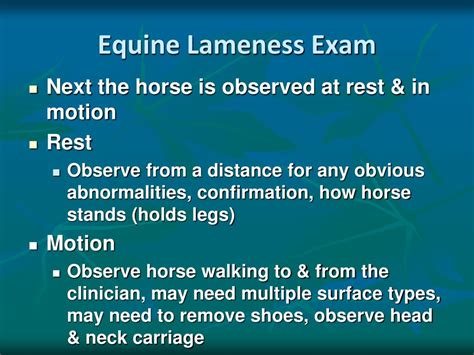 lameness equine exam pattern ppt powerpoint presentation any