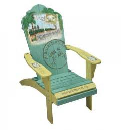 cing station margaritaville painted quot back to the quot adirondack chair
