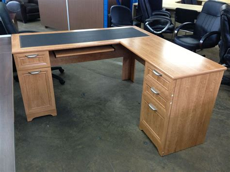 desk l with outlet cool realspace magellan collection l shaped desk espresso