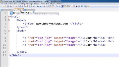 Frame Hyperlink Target Html Hindi Youtube