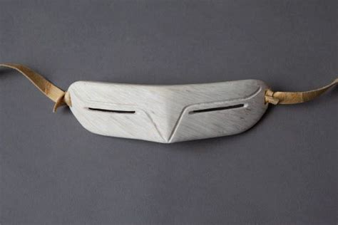 Traditional Inuit Snow Goggles Or Sunglasses Made From