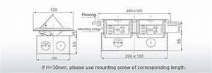 Aluminium Alloy Panel Rj45 Duplex Floor Outlet With 2 Gang