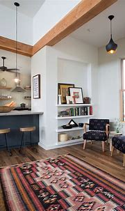 Industrial Loft. B&W, natural wood, reading nook. | House ...