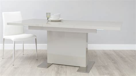 sanza extendable large grey dining table danetti
