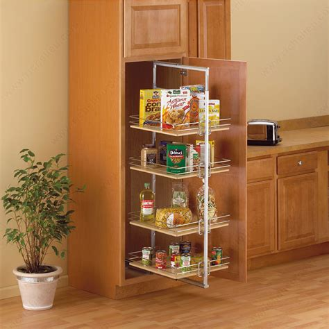 kitchen cabinet organizers pull out roll out pantry center mount richelieu hardware 7888