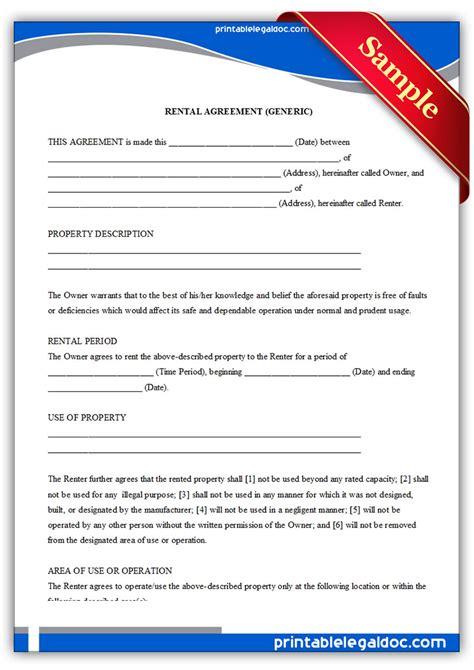 printable rental applications  printable form