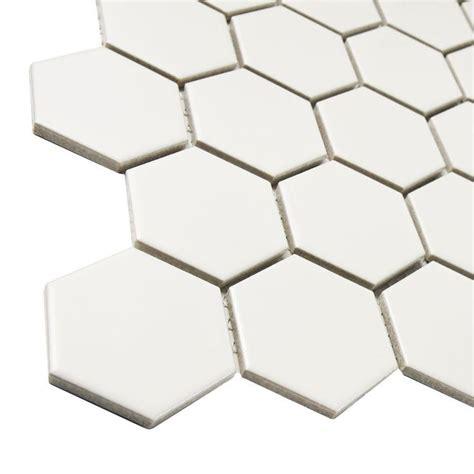 Home Depot Merola Hex Tile by Merola Tile Metro Hex 2 In Matte White 10 1 2 In X 11 In