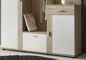 Garderobe Sonoma Eiche Weiß : garderobe patent sonoma eiche wei b h t 145 188 30 ~ Bigdaddyawards.com Haus und Dekorationen