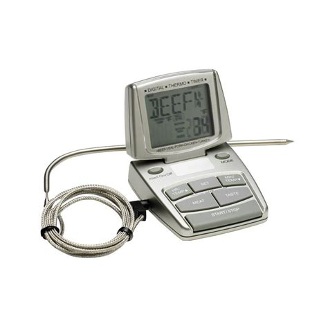thermom re digital cuisine bradley smoker silver digital food thermometer thermo