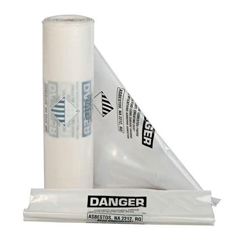 mil clear printed asbestos bags    case