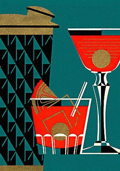 vintage cocktail vintage cocktail shaker illustration graphically