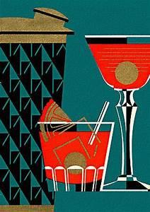 Vintage Cocktail & Shaker Illustration | Graphically ...