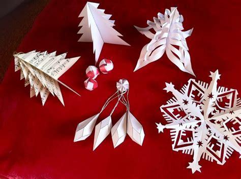 faire des decoration de noel en papier d 233 coration de no 235 l en papier origami ou kirigami