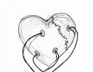 Easy Pencil Drawings Of Broken Hearts - Drawing Of Sketch