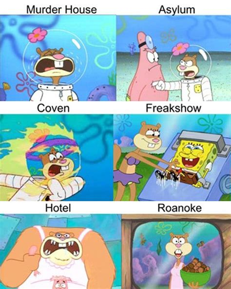 Hilarious Spongebob Memes American Horror Story Has Sparked A Hilarious New
