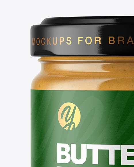 Free hand holding mug mockup. Download Glass Jar With Peanut Butter Mockup Front View ...