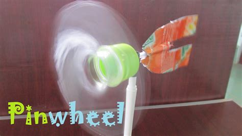 how to make a simple pinwheel using plastic bottle