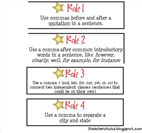 great activity  teach commas   students find