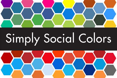 siege social simply market simply social colors palettes on creative market