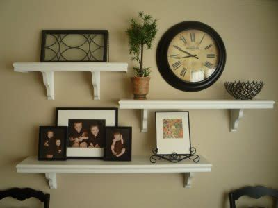 floating wall shelves decorating ideas designed to the nines natalee 9 1 1 floating wall shelves Floating Wall Shelves Decorating Ideas