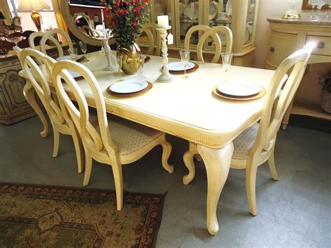 1 15653 stanley furniture dining table with 6 chairs and 2