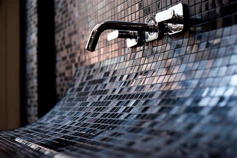 mosaic tile bathroom sink mosaic tile sink with backsplash captivatist