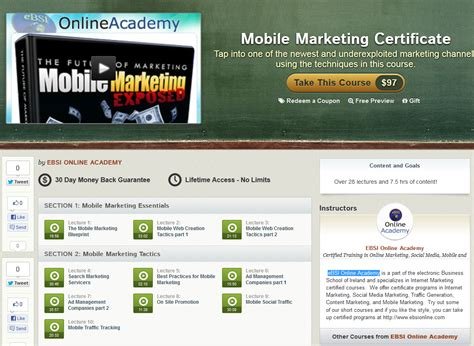 mobile marketing course udemy quot mobile marketing certificate quot course info and reviews