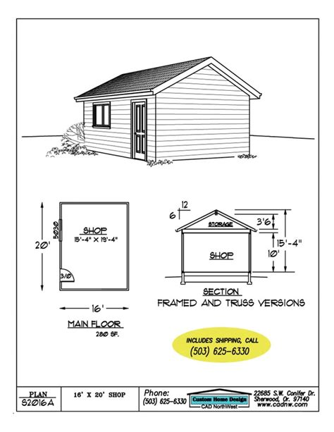 kiala 6 x 10 shed plans 16x20 matted